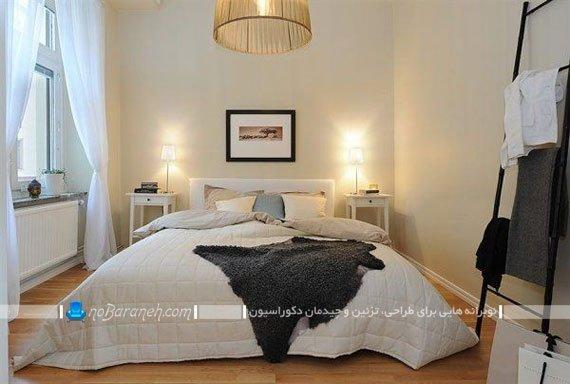 اتاق خواب عروس و داماد با دکوراسیون ساده ولی مدرن / عکس