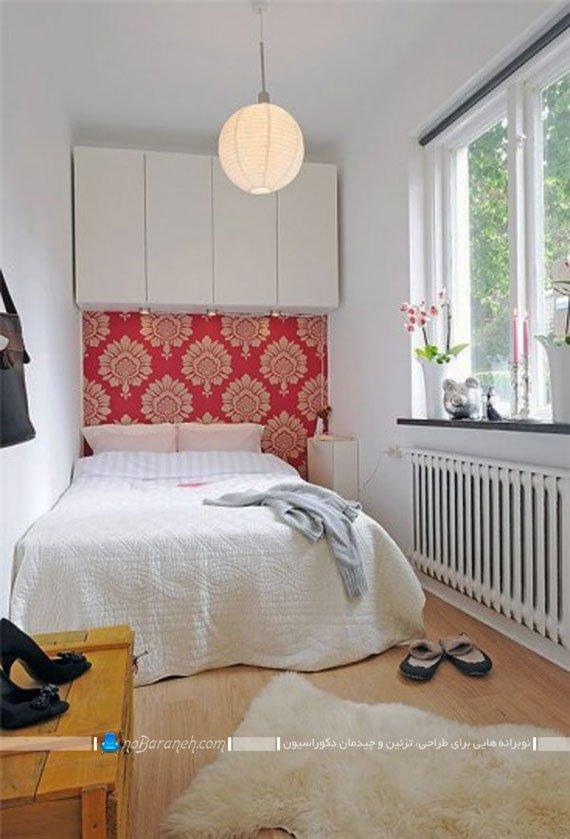 تزیین اتاق خواب کوچک با کاغذ دیواری / عکس