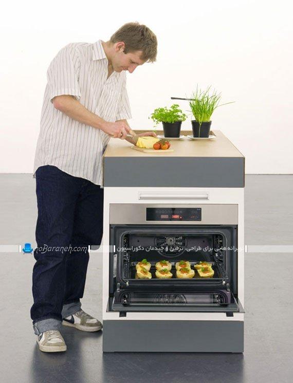 کابینت آشپزخانه کوچک با امکانات کامل