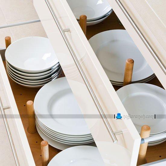 کشو کابینت آشپزخانه مخصوص ظروف / عکس