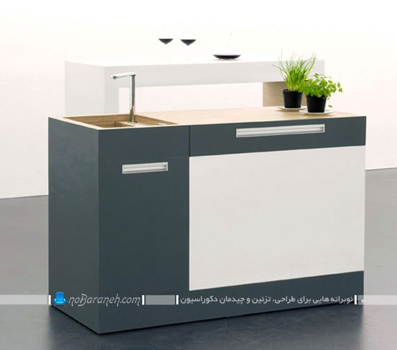 جدیدترین مدل کابینت کوچک و متحرک آشپزخانه