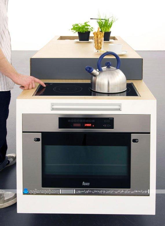 طراحی کابینت آشپزخانه مدرن و کوچک