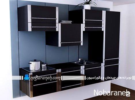 طرح جدید کابینت آشپزخانه با قابلیت تغییر ارتفاع