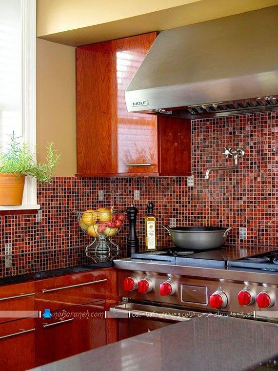 کاشی دیواری ظریف و ریز آشپزخانه
