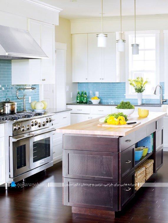 کاشی آجری برای بین کابینت های آشپزخانه