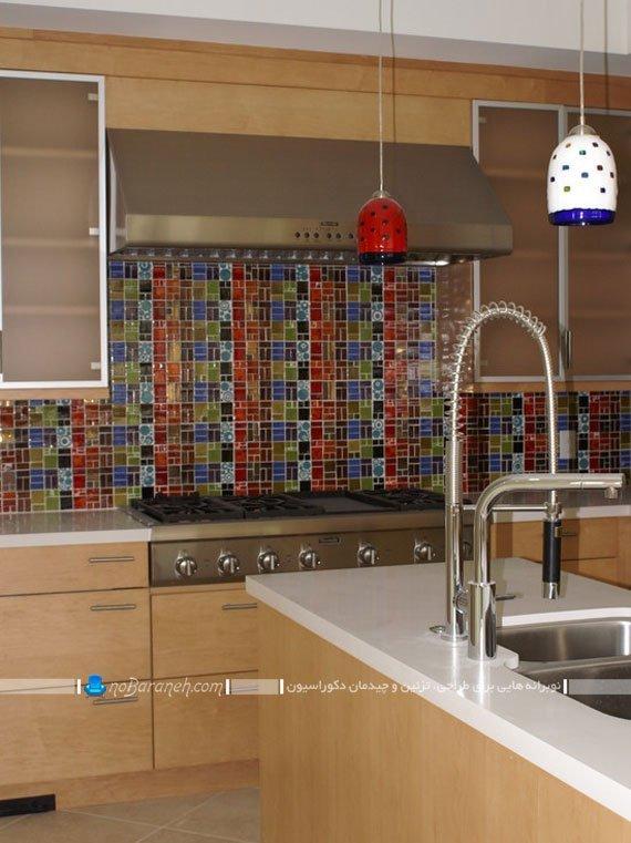 کاشی های طرح ریز و ظریف برای دیوار آشپزخانه