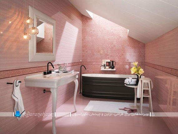 رنگ کاشی دستشویی