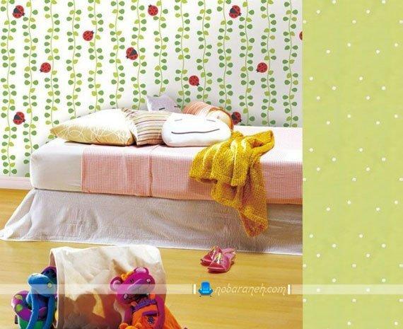 مدل جدید کاغذ دیواری برای تزیین دخترانه اتاق بچه
