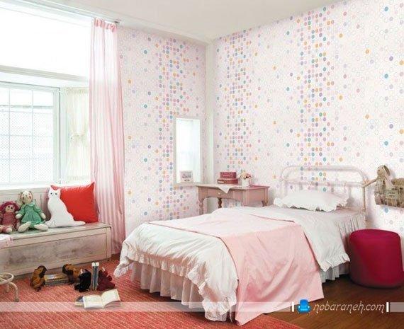 کاغذ دیواری اتاق کودک با طرح های شاد