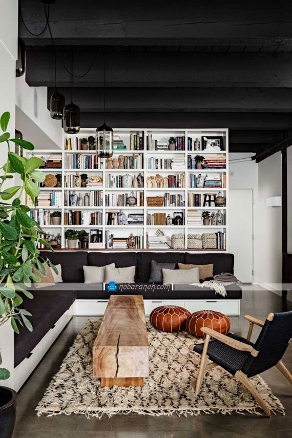 مدل کتابخانه های بزرگ چوبی و خانگی