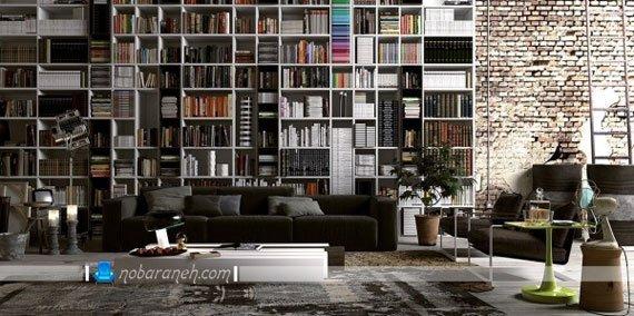 مدل کتابخانه بزرگ و جادار چوبی