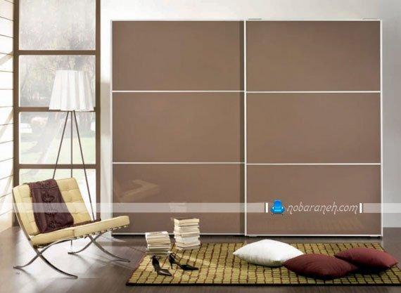 عکس و مدل کمد اتاق خواب با در دو تکه ریلی / عکس