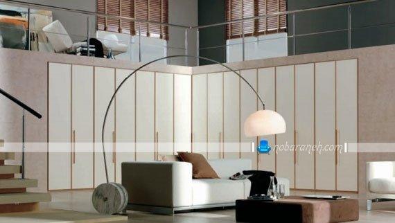 عکس و مدل کمد دیواری تو کار بزرگ برای اتاق نشیمن و پذیرایی / عکس
