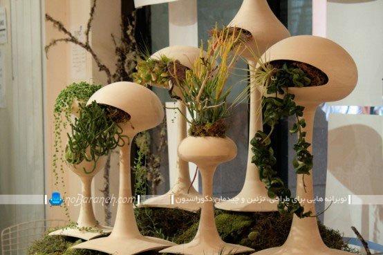 گلدان های سفالی مدرن و تزیینی خانگی