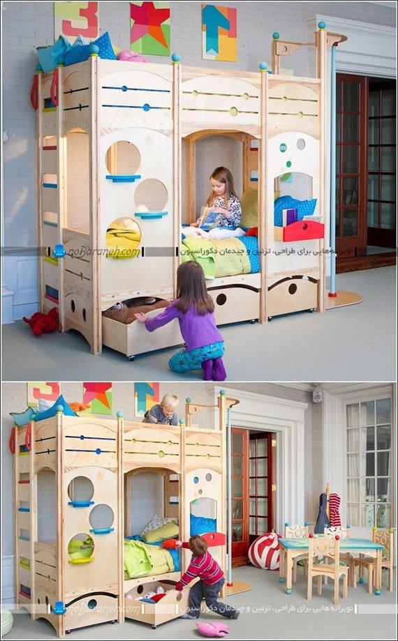 تخت خواب کودک ، یک تیر و دو نشان هم خواب هم بازی / عکس