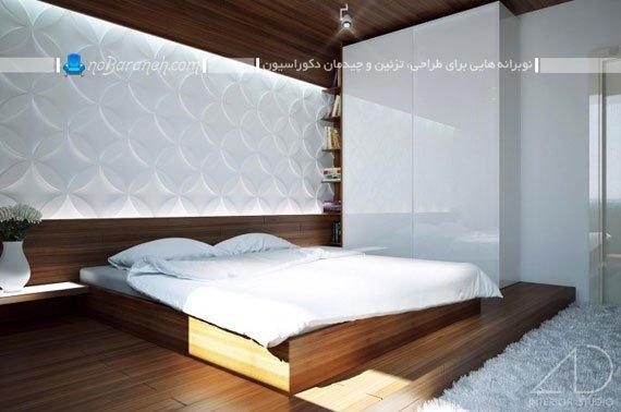 دیوارپوش و پنل گچی برای اتاق خواب / عکس