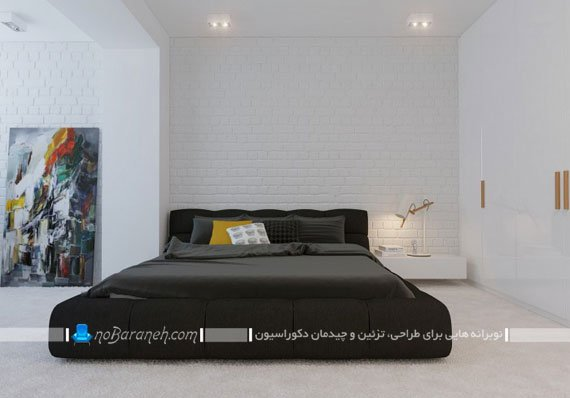 تزیین اتاق خواب عروس با رنگ های سیاه و سفید / عکس