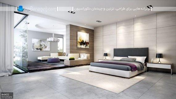 اتاق خواب عروس با طراحی دکوراسیون شیک و مدرن / عکس