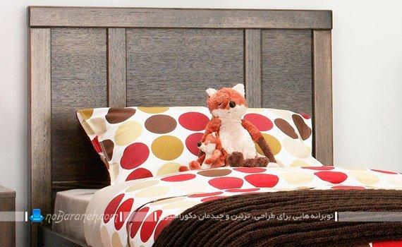 مدل تخت خواب چوبی اتاق نوجوان / عکس