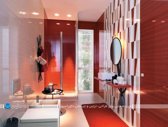 سرامیک و کاشی کف و دیوار سرویس بهداشتی / عکس