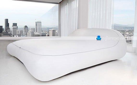 عکس تخت خواب دو نفره با طراحی مدرن / عکس