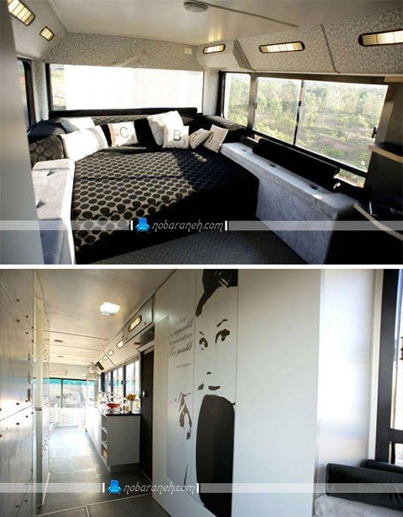 چیدمان و معماری داخل اتوبوس به شکل خانه