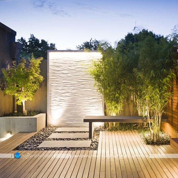 آبنما دکوراتیو و تزیینی برای دیوار حیاط منزل