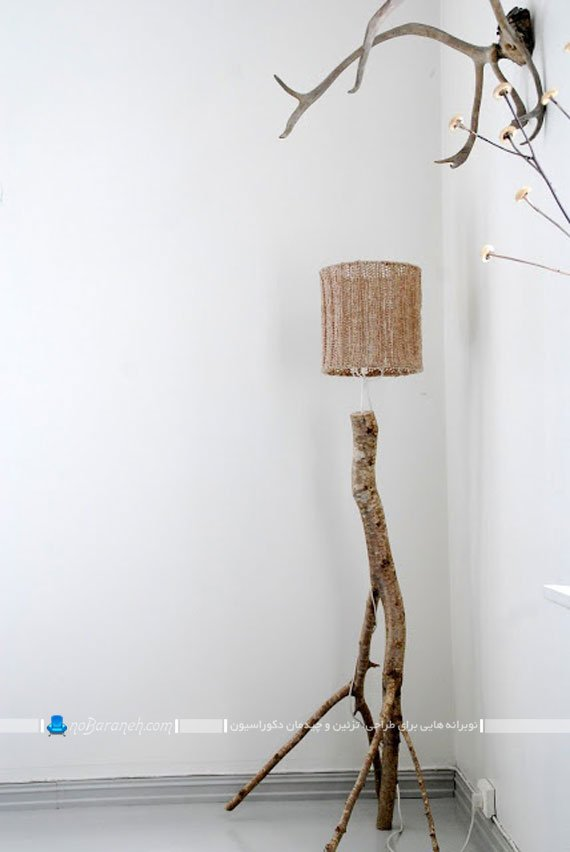 آباژور فانتزی با تنه درختی / عکس