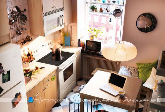 طراحی دکوراسیون شلخته ای در آشپزخانه / عکس