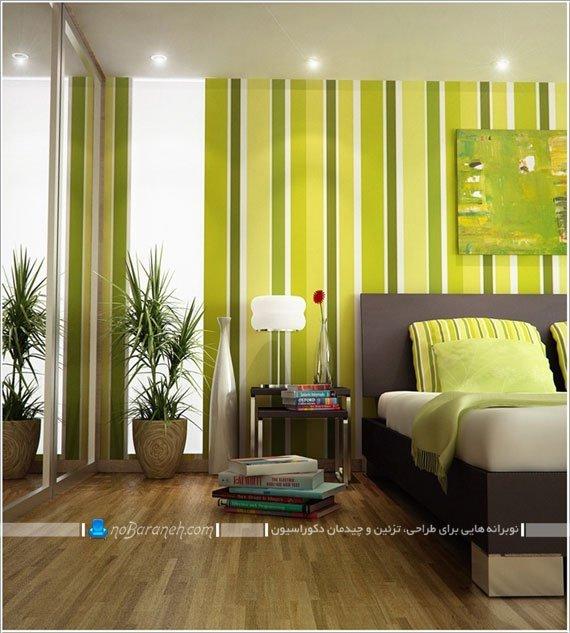 طراحی دکوراسیون اتاق خواب با رنگ سبز / عکس