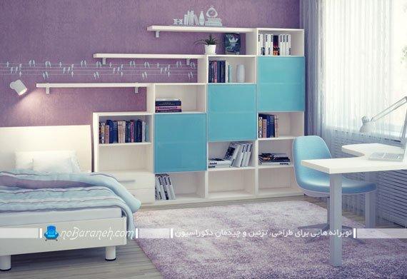 تزیین اتاق خواب دخترانه با بنفش /عکس