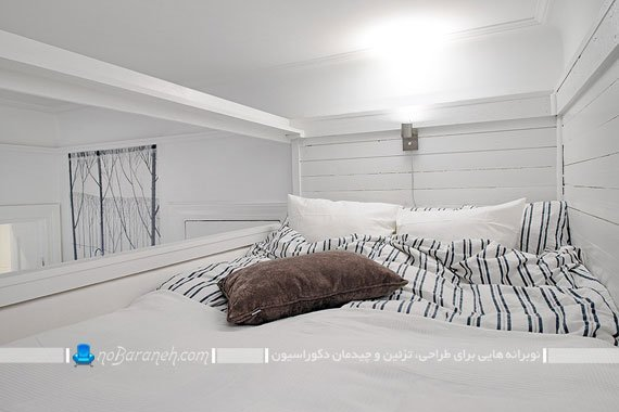 مدل اتاق خواب کوچک دوبلکس با سقف کوتاه