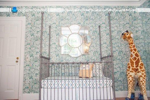طراحی دکوراسیون اتاق نوزاد پسر با رنگ آبی