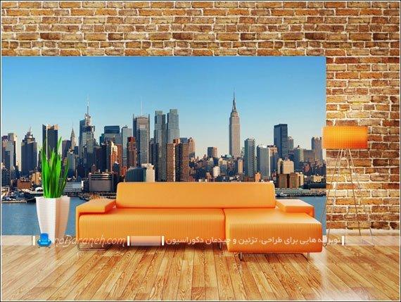 مدل پوستر دیواری سایز بزرگ برای اتاق پذیرایی / عکس