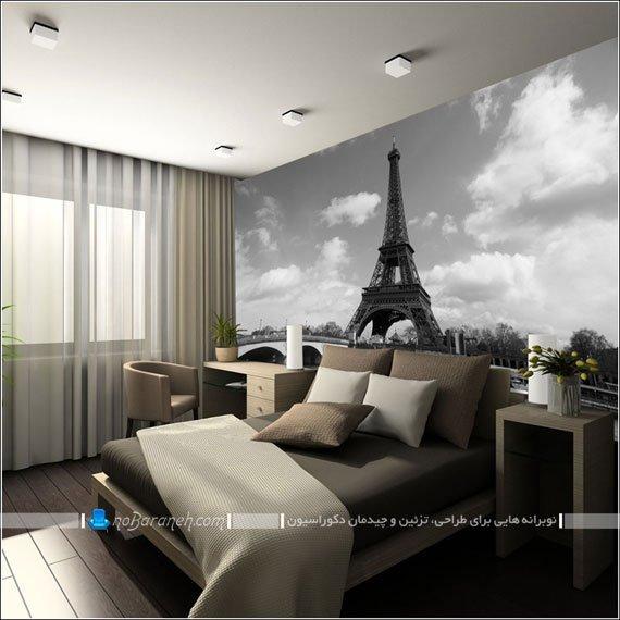 طرح جدید پوستر بزرگ دیواری با عکس برج ایفل و شهر پاریس