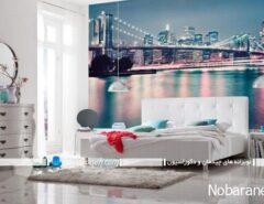 پوستر دیواری عریض و بزرگ برای تزیین اتاق خواب