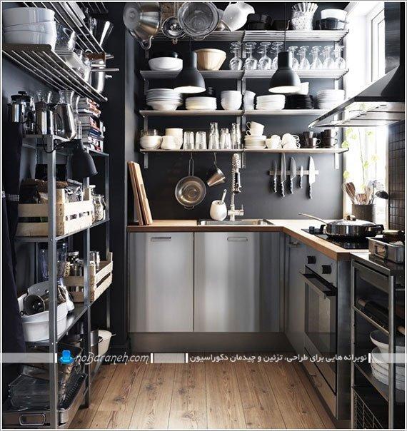 طراحی دکوراسیون آشپزخانه ایکیا ikea / عکس