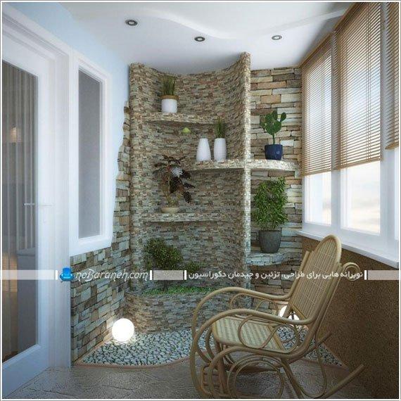 تزیین دیوار بالکن و تراس خانه با دیوارپوش / عکس