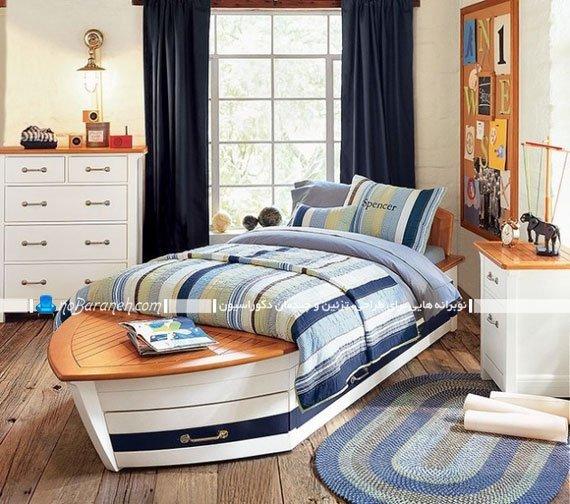 تخت خواب کشتی برای اتاق کودک