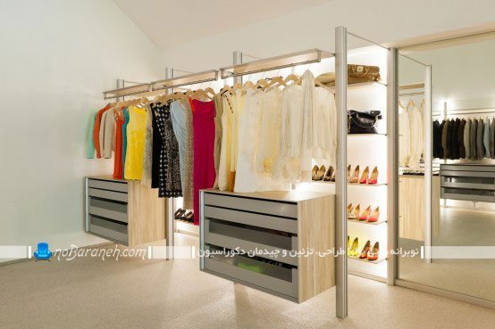 مدل کمد لباس برای اتاق بانوان