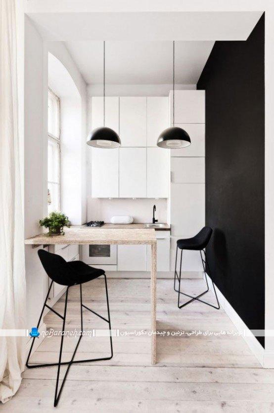 چیدمان و دیزاین آشپزخانه خیلی کوچک