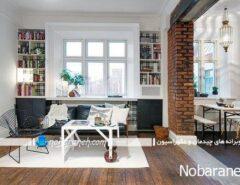 طراحی دکوراسیون داخلی آپارتمان کوچک یک خوابه
