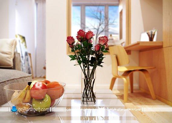 حال و هوا دادن به دکوراسیون داخلی با شاخه های گل / عکس