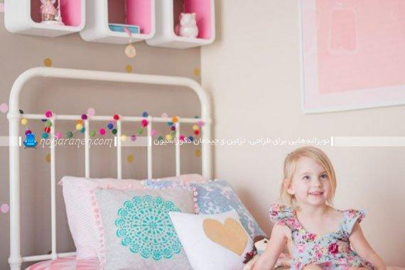 تزیین اتاق کودک دختر با رنگ صورتی