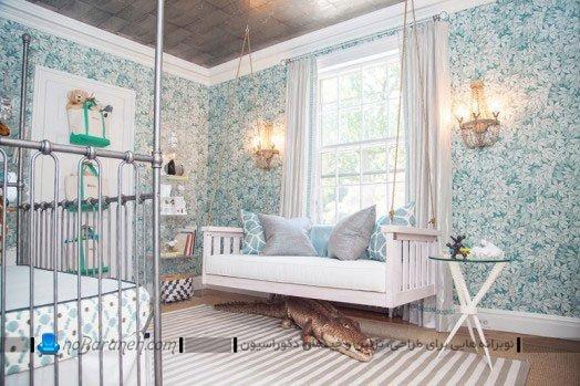 دیزاین و تزیین اتاق نوزاد پسر با رنگ آبی