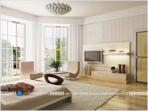 مدل رنگ آمیزی اتاق خواب با رنگ کرم