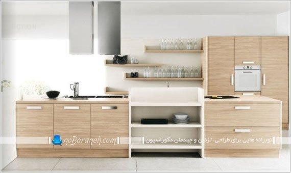 دیزاین آشپزخانه با رنگ های خنثی / عکس