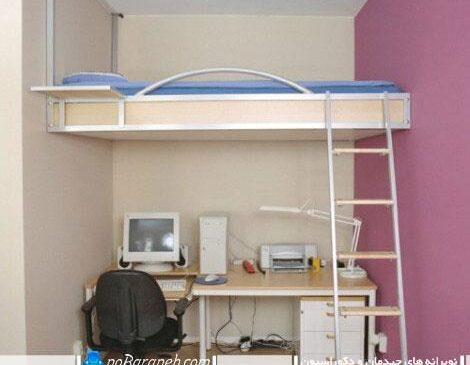 تخت کمجای دیواری برای اتاق خواب های خیلی کوچک