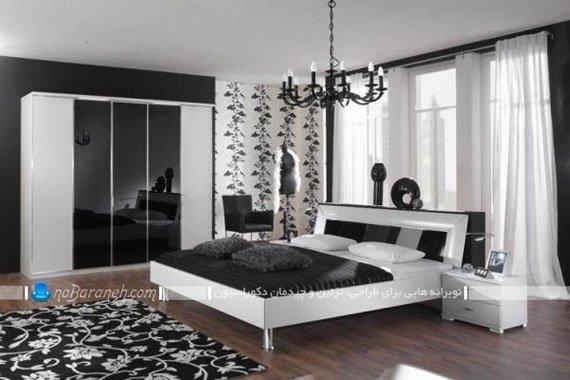 طراحی دکوراسیون و مبلمان اتاق عروس با رنگ سیاه و سفید / عکس