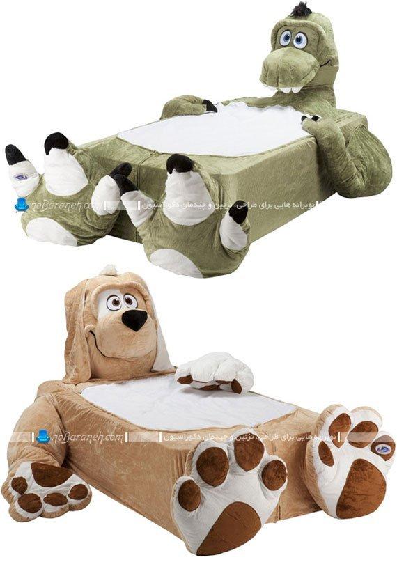 تخت خواب های عروسکی کودکانه و شیک بچه گانه. مدل های جدید تخت خواب بچه دختر و پسر در طرح های فانتزی و زیبا.